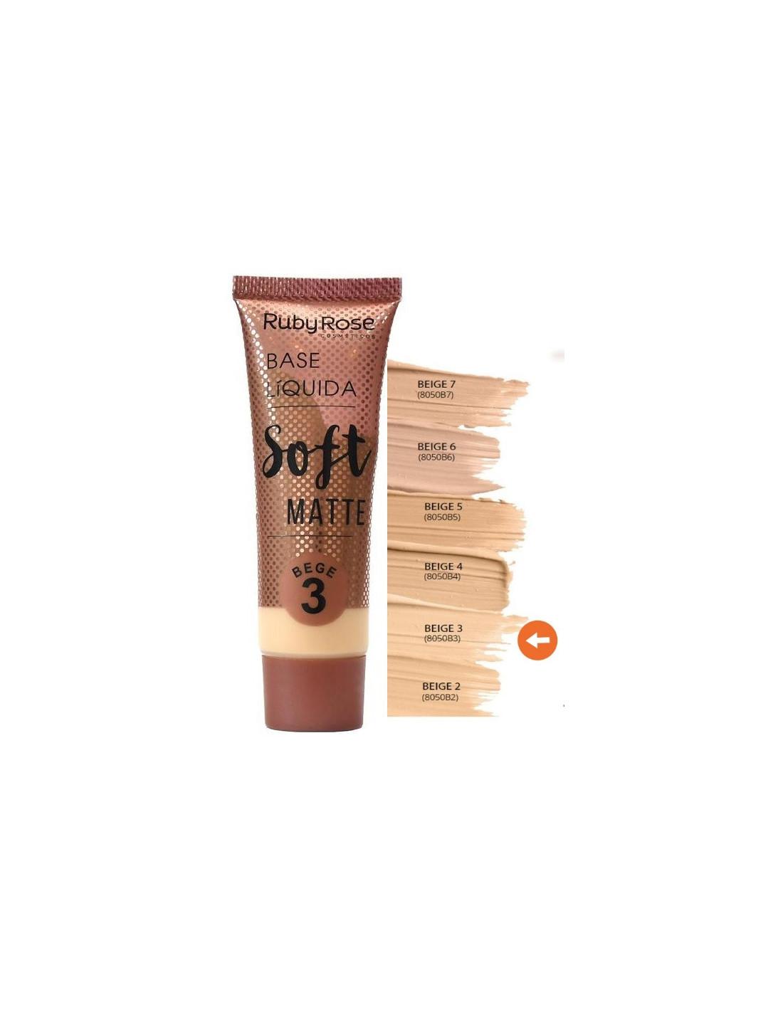Base Liquida Soft Matte Bege Ruby Rose - Purpure Makeup
